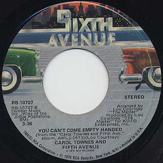 Carol Townes And Fifth Avenue / Bring Your Body