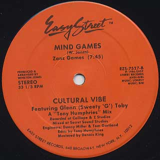 Cultural Vibe / Mind Games front
