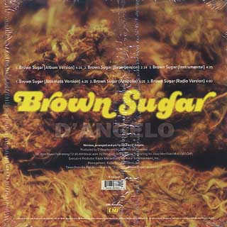 D'Angelo / Brown Sugar back