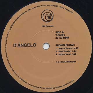 D'Angelo / Brown Sugar label