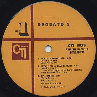 Deodato / 2 label