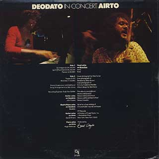 Deodato, Airto / In Concert back