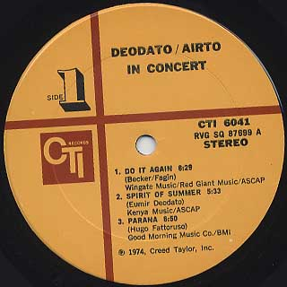 Deodato, Airto / In Concert label