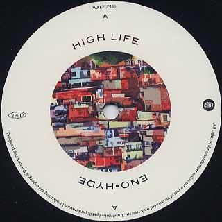Eno & Hyde / High Life label