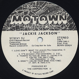 Jackie Jackson / S.T. label