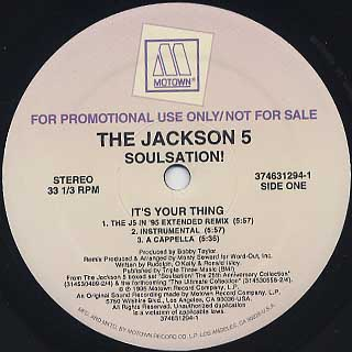 Jackson 5 / It's Your Thing back