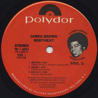 James Brown - Bodyheat / Sex Machine