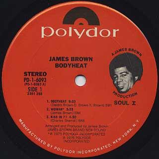 James Brown / Bodyheat label