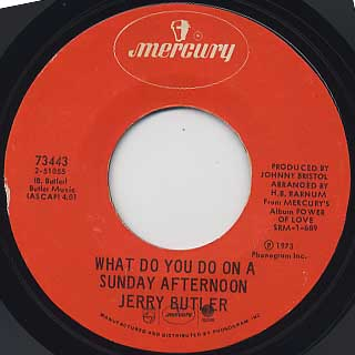 Jerry Butler / Power Of Love c/w What Do You Do On A Sunday Afternoon back