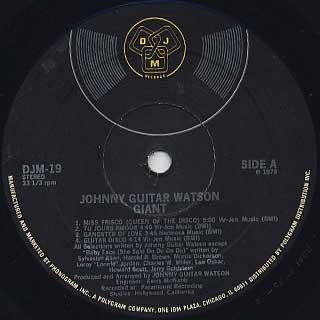 Johnny Guitar Watson / Ginat label