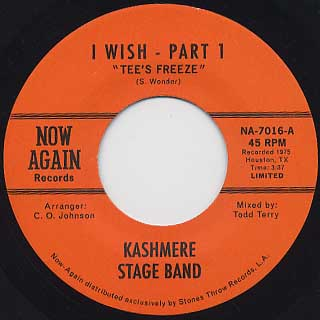 Kashmere Stage Band / I Wish front