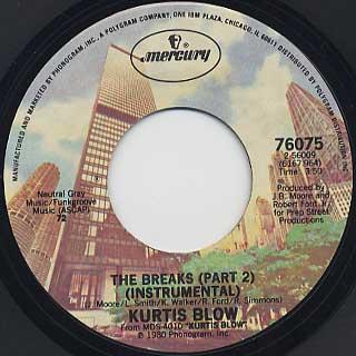 Kurtis Blow / The Breaks(45) back