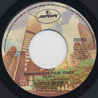 Kurtis Blow / Throughout Your Years front