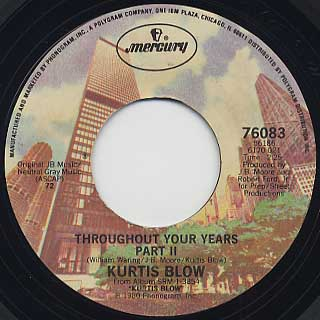 Kurtis Blow / Throughout Your Years back