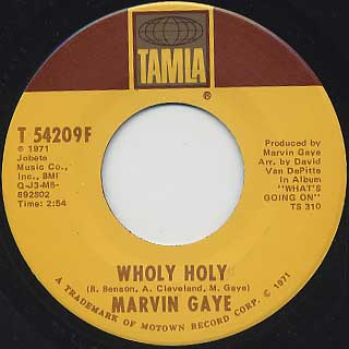 Marvin Gaye / Inner City Blues(Make Me Wanna Holler) c/w Wholy Holy back