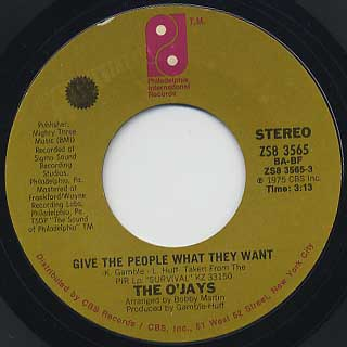 O'Jays / Give The People What They Want