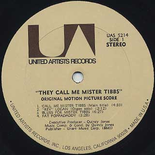 O.S.T.(Quincy Jones) / They Call Me Mister Tibbs label