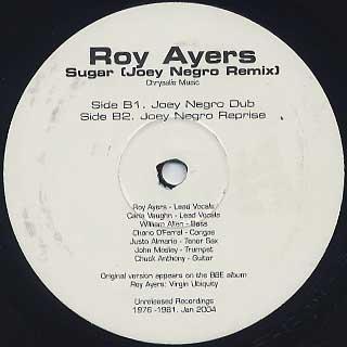 Roy Ayers / Sugar (Joey Negro Remix) back