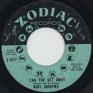 Ruby Andrews / Everybody Saw You c/w Can You Get Away back