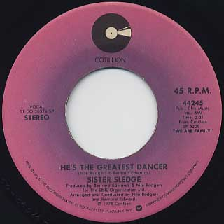 Sister Sledge / He's The Greatest Dancer front