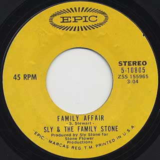 Sly and The Family Stone / Family Affair