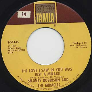 Smokey Robinson and The Miracles / The Love Is I Saw In You Was Just