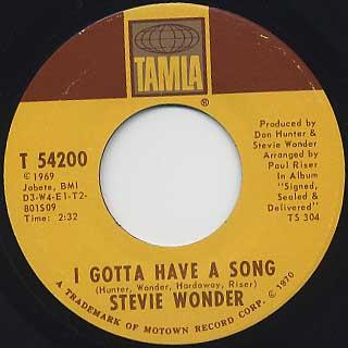 Stevie Wonder / I Got Have A Song