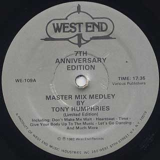 Tony Humphries / Master Mix Medley - 7th Anniversary Edition
