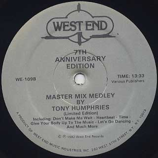 Tony Humphries / Master Mix Medley - 7th Anniversary Edition back
