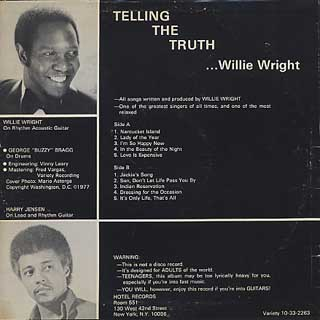 Willie Wright / Telling The Truth back