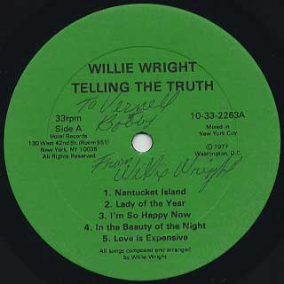 Willie Wright / Telling The Truth label