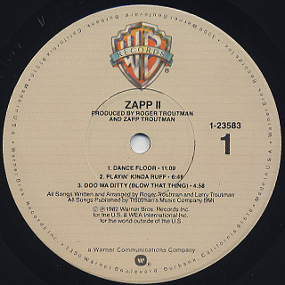 Zapp Ii Lp Warner Bros 中古レコード通販 大阪 Root Down