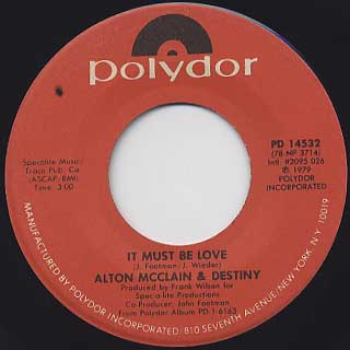 Alton McClain & Destiny / It Must Be Love