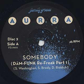Aurra x Dam Funk / Somebody label