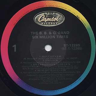 B.B.&Q. Band / Six Million Times label