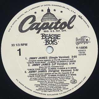 Beastie Boys / Jimmy James label