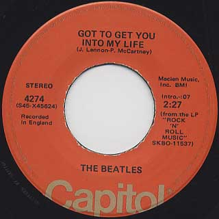 Beatles / Got To Get You Into My Life label