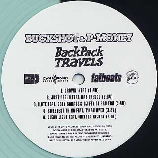 Buckshot & P-Money / Back Pack Travels label
