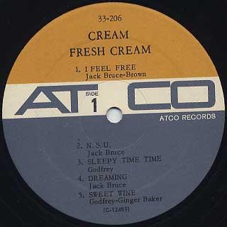 Cream / Fresh Cream label