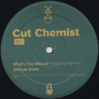 Cut Chemist / What's The Altitude label