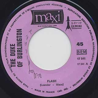 Duke Of Burlington / Flash label