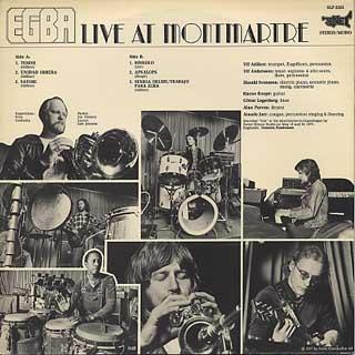 EGBA / Live At Montmartre back