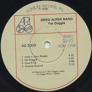 Greg Alper Band / Fat Doggie label