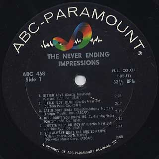 Impressions / The Never Ending label