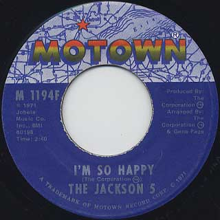 Jackson 5 / Sugar Daddy back