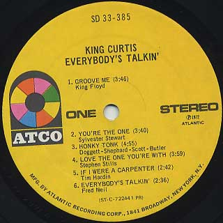 King Curtis / Everybody's Talkin' label