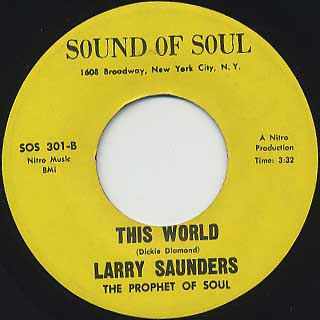 Larry Saunders / Love I Haven't Found You Yet back