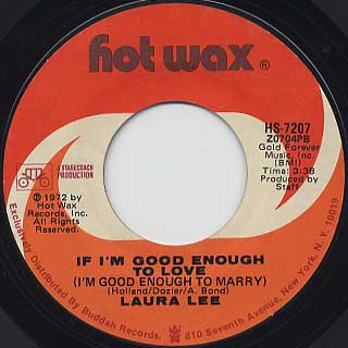 Laura Lee / If I'm Good Enough To Love (I'm Good Enough To Marry) front