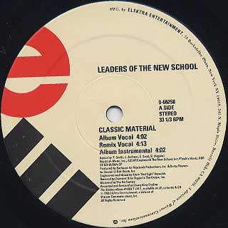 Leaders Of The New School / Classic Material label