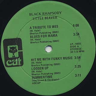 Little Beaver / Black Rhapsody label